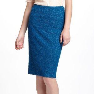 Moulinette Soeurs Lapis Lace Pencil Skirt | 6